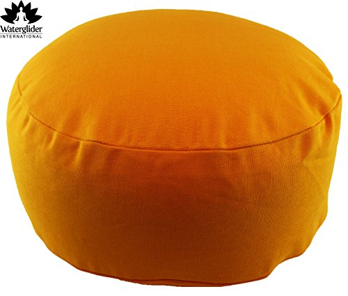 ヨガ フィットネス Waterglider International Zafu Organic Cotton Meditation Pillow: Rondo Style with Liner- 6 Colors (Orange Saffron, standard 12 inch)ヨガ フィットネス