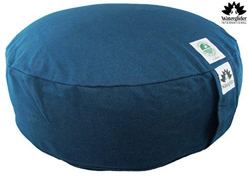 ヨガ フィットネス Waterglider International Zafu Organic Cotton Meditation Pillow with Buckwheat Hulls: Rondo Style with Liner- 6 Colors (Twilight, Standard 12 Inch)ヨガ フィットネス