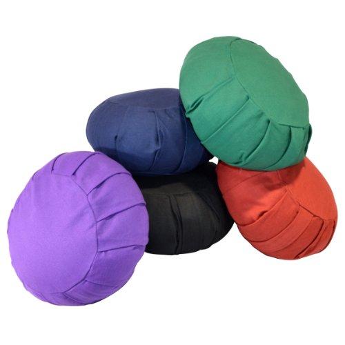 ヨガ フィットネス 【送料無料】YogaAccessories Round Cotton Zafu Meditation Cushion - Blueヨガ フィットネス