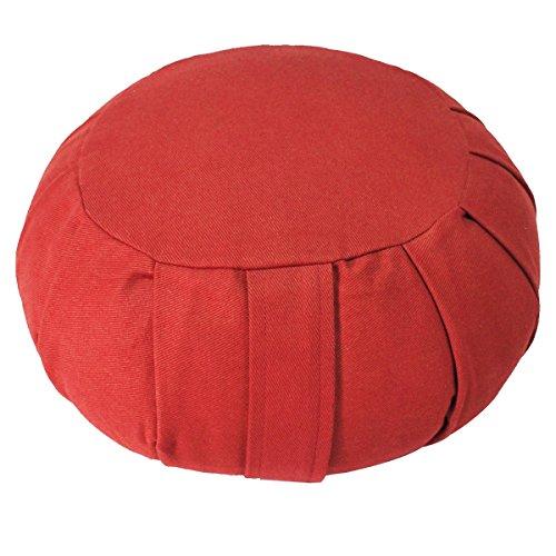 ヨガ フィットネス 【送料無料】YogaAccessories (TM) Round Cotton Zafu Meditation Cushion - Redヨガ フィットネス