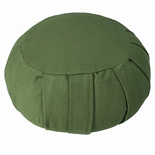 ヨガ フィットネス 【送料無料】YogaAccessories Round Cotton Zafu Meditation Cushion - Sageヨガ フィットネス