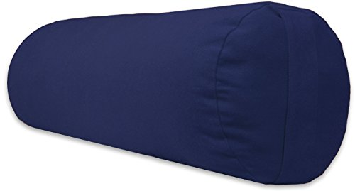 ヨガ フィットネス A242BOLBLU01 YogaDirect Supportive Round Cotton Yoga Bolster, Blueヨガ フィットネス A242BOLBLU01