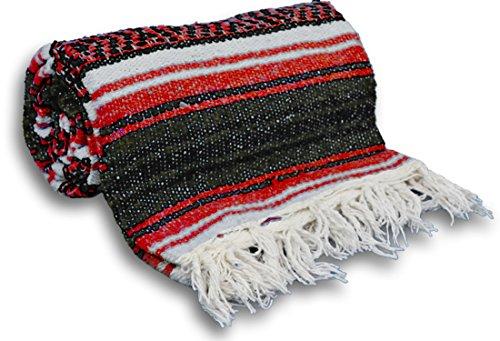 ヨガ フィットネス 【送料無料】YogaAccessories Traditional Mexican Yoga Blanket ( Red)ヨガ フィットネス