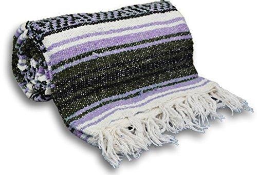 ヨガ フィットネス YogaAccessories Traditional Mexican Yoga Blanket ( Light Purple)ヨガ フィットネス