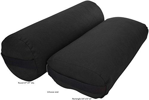 ヨガ フィットネス Bean Products Yoga Bolster - Cotton Round - Blackヨガ フィットネス