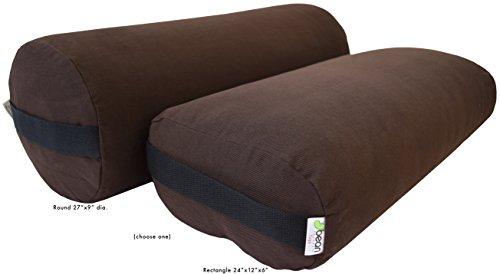 ヨガ フィットネス Bean Products Yoga Bolster - Cotton Round - Russetヨガ フィットネス