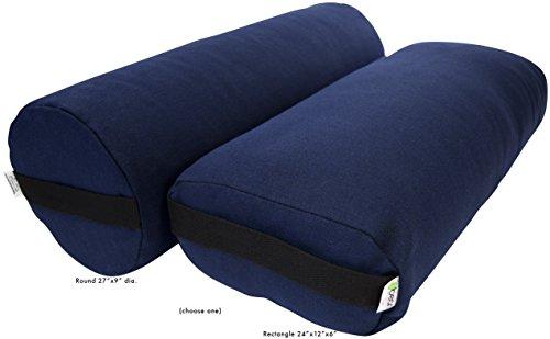 ヨガ フィットネス Bean Products Yoga Bolster - Hemp Round - Blueberryヨガ フィットネス