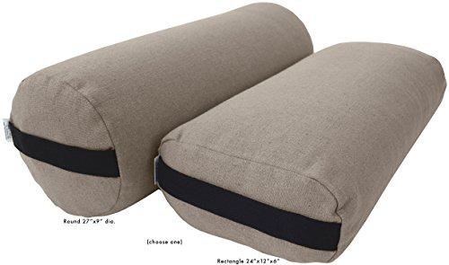 ヨガ フィットネス Bean Products Yoga Bolster - Hemp Rectangle - Naturalヨガ フィットネス