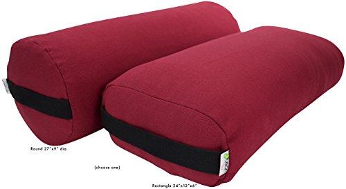 ヨガ フィットネス 【送料無料】Bean Products Cranberry - Hemp Round Yoga Bolsterヨガ フィットネス