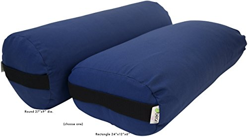 ヨガ フィットネス Bean Products Yoga Bolster - Cotton Rectangle - Medium Blueヨガ フィットネス