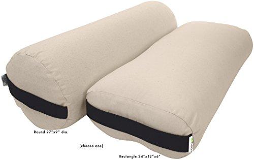 ヨガ フィットネス Bean Products Yoga Bolster - Cotton Round - Naturalヨガ フィットネス