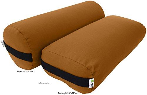 ヨガ フィットネス Bean Products Nutmeg Round Yoga Bolster - Cottonヨガ フィットネス