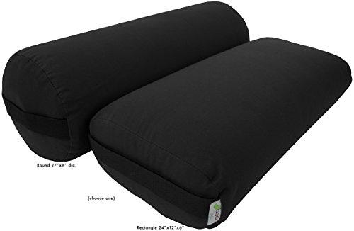 ヨガ フィットネス Bean Products Yoga Bolster - 100% Organic Round - Blackヨガ フィットネス