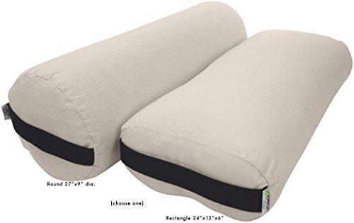 ヨガ フィットネス 【送料無料】Bean Products Yoga Bolster - Round - 100% Organic Cotton Naturalヨガ フィットネス