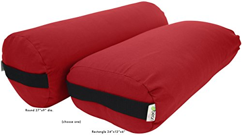 ヨガ フィットネス 400DRD Bean Products Yoga Bolster - Cotton Round - Redヨガ フィットネス 400DRD