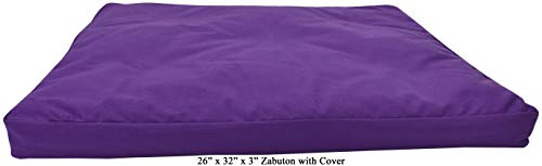 ヨガ フィットネス 【送料無料】Bean Products Purple - Zabuton Meditation Cushion & Cover - Standard Size - 24 x 24 x 2 - Yoga - 100% Cotton - Made in USAヨガ フィットネス