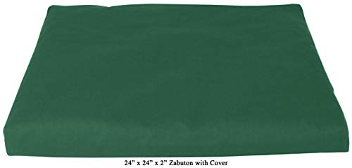 ヨガ フィットネス 【送料無料】Bean Products Forest Green - Zabuton Meditation Cushion & Cover - Standard Size - 24 x 24 x 2 - Yoga - 100% Cotton - Made in USAヨガ フィットネス