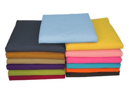 ヨガ フィットネス Bean Products Khaki - Zabuton Meditation Cushion & Cover - Standard Size - 24 x 24 x 2 - Yoga - 100% Cotton - Made in USAヨガ フィットネス
