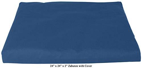 ヨガ フィットネス 【送料無料】Bean Products Medium Blue - Zabuton Meditation Cushion & Cover - Standard Size - 24 x 24 x 2 - Yoga - 100% Cotton - Made in USAヨガ フィットネス