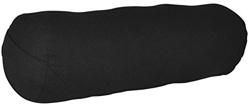 ヨガ フィットネス YogaAccessories Small Junior Sized Round Cotton Yoga Bolster - Blackヨガ フィットネス
