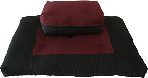 ヨガ フィットネス D&D Futon Furniture Zabuton Zafu Set, Yoga, Meditation Seat Cushions, Kneeling, Sitting, Supporting Exercise Pratice Zabuton & Zafu Cushions. (Burgundy)ヨガ フィットネス