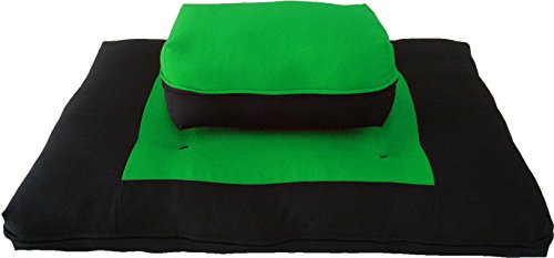 ヨガ フィットネス D&D Futon Furniture Zabuton Zafu Set, Yoga, Meditation Seat Cushions, Kneeling, Sitting, Supporting Exercise Pratice Zabuton & Zafu Cushions. (Light Green)ヨガ フィットネス