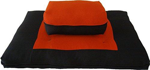ヨガ フィットネス 【送料無料】D&D Futon Furniture Zabuton Zafu Set, Yoga, Meditation Seat Cushions, Kneeling, Sitting, Supporting Exercise Pratice Zabuton & Zafu Cushions. (Orange)ヨガ フィットネス
