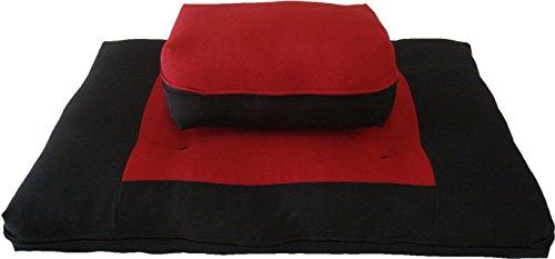 ヨガ フィットネス 【送料無料】D&D Futon Furniture Zabuton Zafu Set, Yoga, Meditation Seat Cushions, Kneeling, Sitting, Supporting Exercise Pratice Zabuton & Zafu Cushions. (Red)ヨガ フィットネス