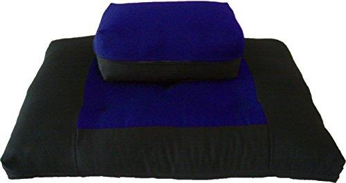 ヨガ フィットネス D&D Futon Furniture Zabuton Zafu Set, Yoga, Meditation Seat Cushions, Kneeling, Sitting, Supporting Exercise Pratice Zabuton & Zafu Cushions. (Royal)ヨガ フィットネス
