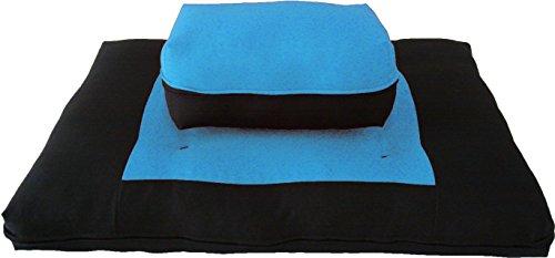 ヨガ フィットネス D&D Futon Furniture Zabuton Zafu Set, Yoga, Meditation Seat Cushions, Kneeling, Sitting, Supporting Exercise Pratice Zabuton & Zafu Cushions. (Turquoise)ヨガ フィットネス