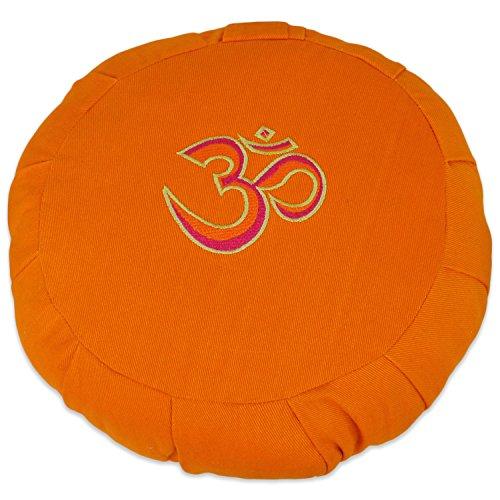 ヨガ フィットネス YogaAccessories Round Cotton Zafu Meditation Cushion - 3 Color Ohm Burnt Yellowヨガ フィットネス
