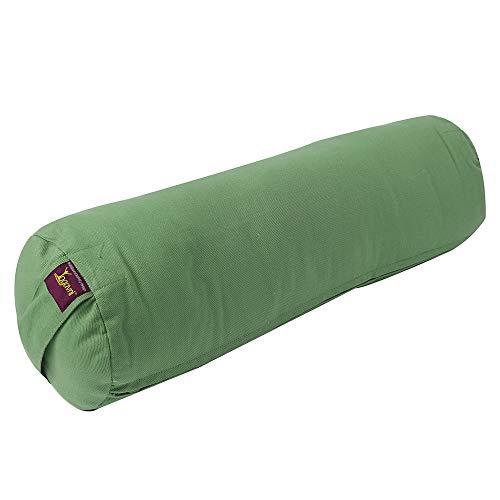 ヨガ フィットネス Yogavni-Bolster-Round-Large-Sage 【送料無料】YogavniTM Round Yoga Bolster - Removable Canvas Cover, Natural Cotton Filler (Sage-Green)ヨガ フィットネス Yogavni-Bolster-Round-Large-Sage