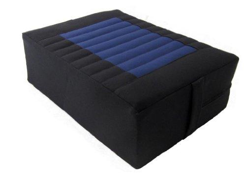 ヨガ フィットネス Tibetan Seat Meditation Cushion - Black-Blueヨガ フィットネス