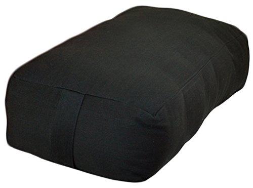 ヨガ フィットネス 【送料無料】YogaAccessories Small Rectangular Cotton Yoga Bolster - Blackヨガ フィットネス