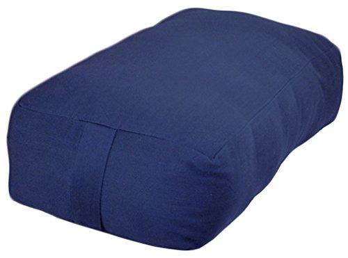 ヨガ フィットネス YogaAccessories Small Rectangular Cotton Yoga Bolster - Blueヨガ フィットネス