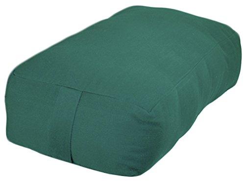 ヨガ フィットネス 【送料無料】YogaAccessories Small Rectangular Cotton Yoga Bolster - Greenヨガ フィットネス