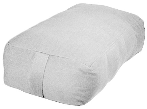 ヨガ フィットネス YogaAccessories Small Rectangular Cotton Yoga Bolster - Off Whiteヨガ フィットネス