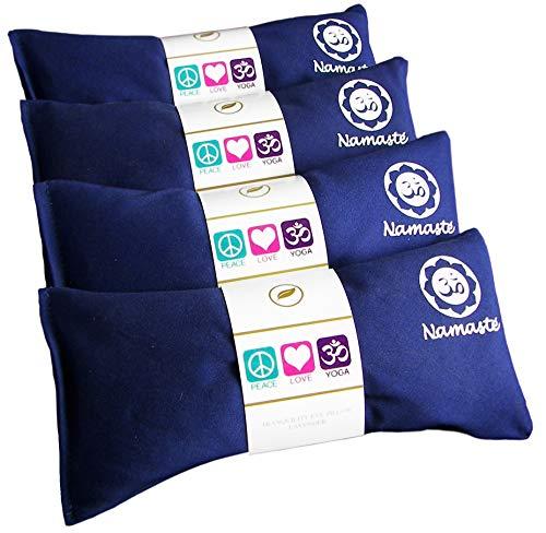 ヨガ フィットネス NLEP-NVY 【送料無料】Happy Wraps Namaste Yoga Eye Pillows - Lavender Eye Pillows for Yoga - Hot Cold Aromatherapy Eye Pillow for Yoga and Relaxation Gifts - Set of 4 - Navy Cottonヨガ フィットネス NLEP-NVY