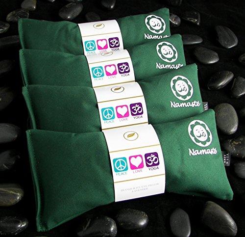 ヨガ フィットネス NUEP-GRN 【送料無料】Happy Wraps Namaste Yoga Eye Pillows - Unscented Eye Pillows for Yoga - Set of 4 - Green Cottonヨガ フィットネス NUEP-GRN