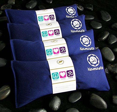 ヨガ フィットネス NUEP-NVY 【送料無料】Happy Wraps Namaste Yoga Eye Pillows - Unscented Eye Pillows for Yoga - Set of 4 - Navy Cottonヨガ フィットネス NUEP-NVY