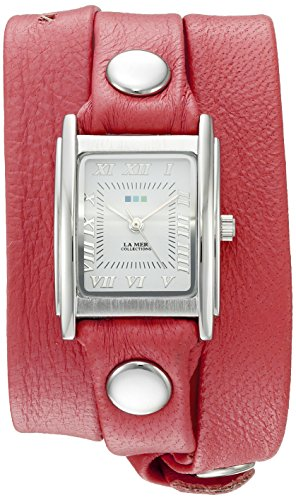 ラメールコレクションズ 腕時計 レディース LMSTWGMA14015 La Mer Collections Women's 'La Mer Collections Women's Coral Silver Triple Wrap Watch' Quartz Silver-Toned Leather Casual Watch (Model: LMSTラメールコレクションズ 腕時計 レディース LMSTWGMA14015