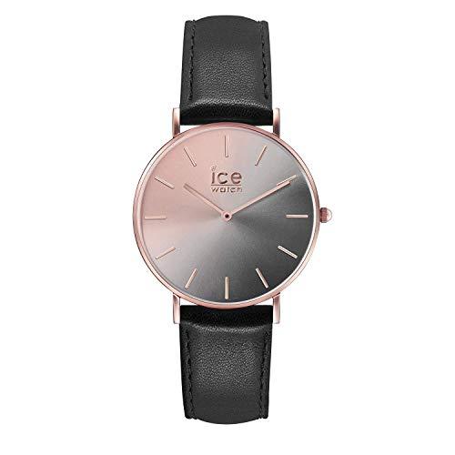 アイスウォッチ 腕時計 レディース かわいい 【送料無料】Ice-Watch ICE City Sunset Smoky Eye Black Leather Strap Small Women's Watch 015755アイスウォッチ 腕時計 レディース かわいい