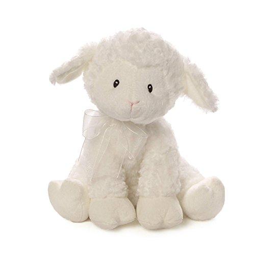 ガンド ぬいぐるみ リアル お世話 かわいい 【送料無料】Baby GUND Lena Lamb Brahms' Lullaby Musical Stuffed Animal Plush, White, 10