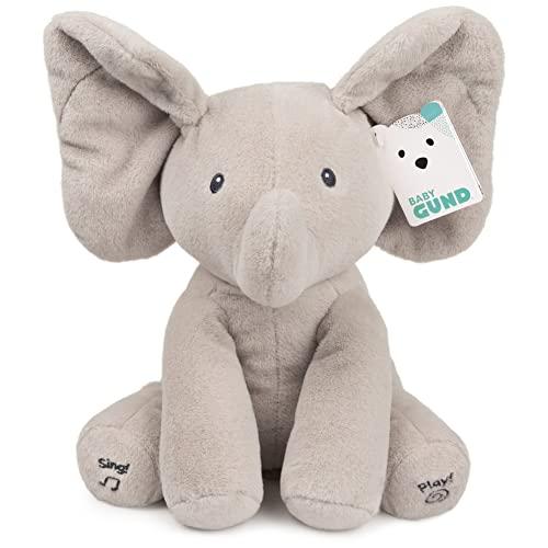 ガンド ぬいぐるみ リアル お世話 かわいい 【送料無料】Baby GUND Animated Flappy the Elephant Stuffed Animal Plush, Gray, 12