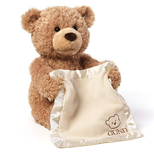 春夏新作 ガンド ぬいぐるみ かわいい リアル お世話 かわいい Animal【送料無料】GUND リアル Peek-A-Boo Teddy Bear Animated Stuffed Animal Plush, 11.5