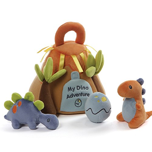 """ガンド ぬいぐるみ リアル お世話 かわいい Baby GUND My Dino Adventure Stuffed Plush Playset with Coloring Page, Set of 5, 9""""ガンド ぬいぐるみ リアル お世話 かわいい"""