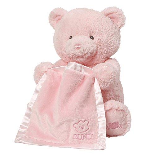 ガンド ぬいぐるみ リアル お世話 かわいい 【送料無料】Baby GUND My First Teddy Bear Peek A Boo Animated Stuffed Animal Plush, Pink, 11.5