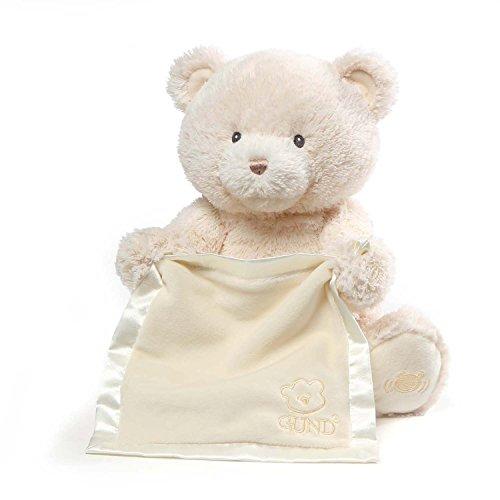 ガンド ぬいぐるみ リアル お世話 かわいい 【送料無料】Baby GUND My First Teddy Bear Peek A Boo Animated Stuffed Animal Plush, Cream, 11.5