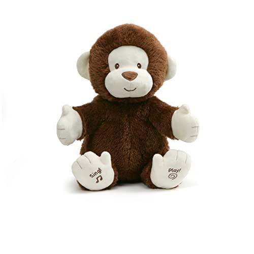 ガンド ぬいぐるみ リアル お世話 かわいい 【送料無料】GUND Animated Clappy Monkey Singing and Clapping Plush Stuffed Animal, Brown, 12