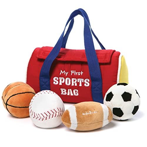 ガンド ぬいぐるみ リアル お世話 かわいい 【送料無料】GUND Baby My First Sports Bag Stuffed Plush Playset, 5 Piece, 8